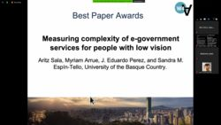 Best Communication Paper Award for Aritz Sala, Myriam Arrue, J. Eduardo Perez, and Sandra M. Espín-Tello in the  17th International Web for All Conference: Automation for Accessibility